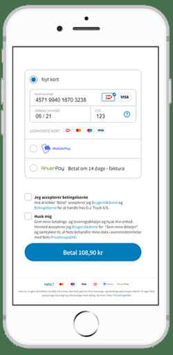 Dankort checkout_iphone