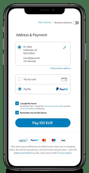 PayPal mobile checkouot